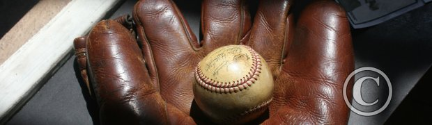 Mike Anderson Presentation: Vintage Baseball Glove and Ball